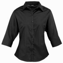 prix favorable acheter mieux gamme exclusive Chemisier à manche 3/4 - Femme FR 48, Noir Utrw1093
