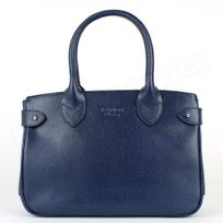 Volumica - Mini sac Cabas Shopping Paris cuir Bleu marine Beaubourg