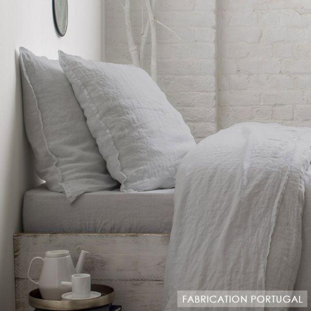 selene et gaia drap housse lin lav gris perle 2 places lin perle couleur perle taille. Black Bedroom Furniture Sets. Home Design Ideas