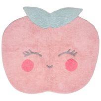 Nattiot - Tapis Candy -apple Rose lavable - Couleur - Rose, Taille - 100 / 100 cm