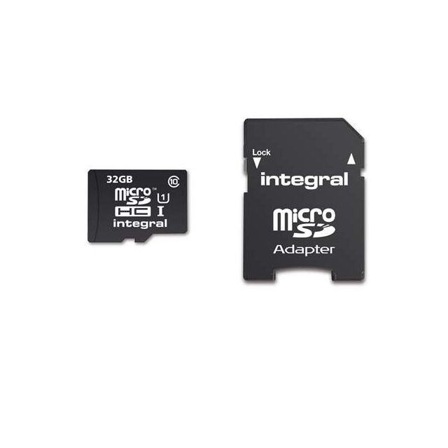 Integral - Carte mémoire Intégral Sdhc avec adaptateur 32 Go - classe 10
