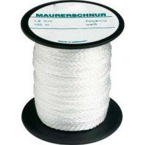 autre cordeau de ma on perlon couleur blanc naturel long 100 m r sistance m canique env. Black Bedroom Furniture Sets. Home Design Ideas