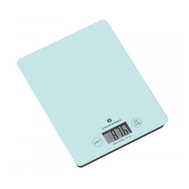 Zassenhaus - Balance de Cuisine 5 Kg Bleu clair