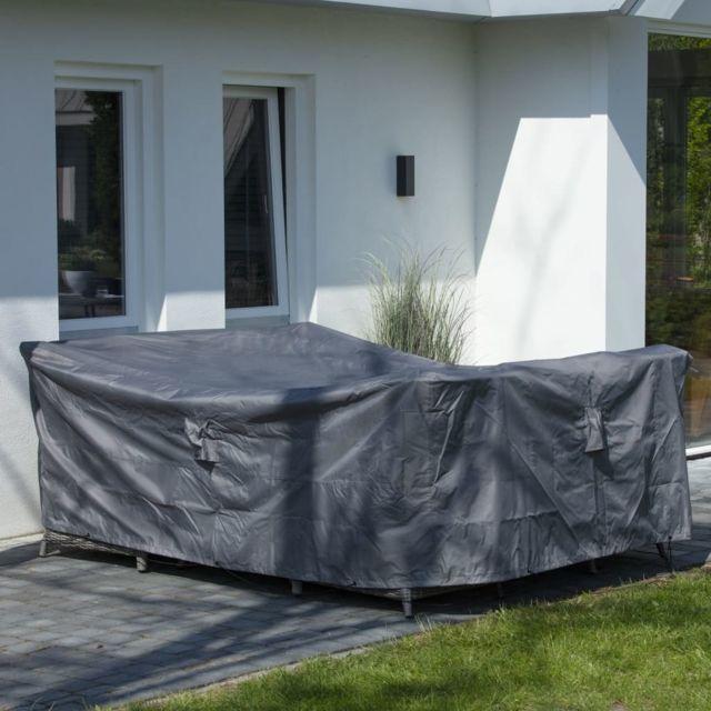 Housse de meubles d'extérieur 400 x 300 x 70 cm Gris