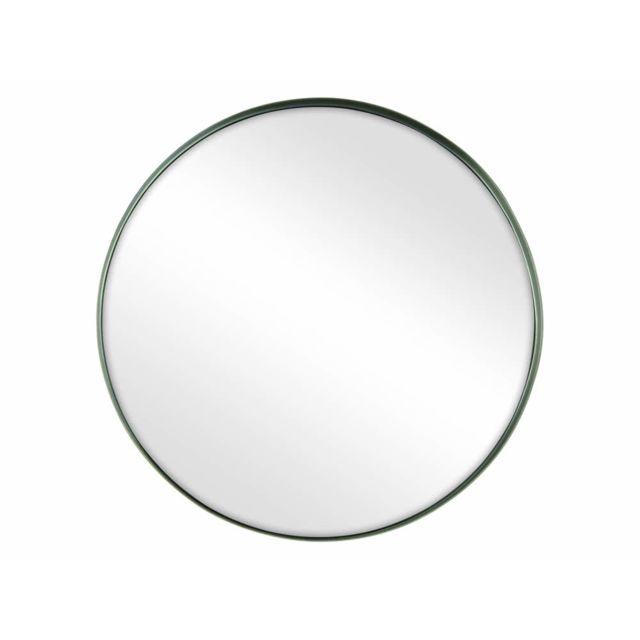 Pomax Miroir rond en métal D.40cm Kelly - Etain
