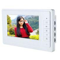 Auto-hightech - Interphone Sonnette Vidéo Caméra Hd 7 Pouces avec Système de Moniteur Pour Porte Téléphone - couleur Blanche