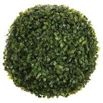 """Paris Prix - Plante Artificielle """"Boule de Buis"""" 26cm Vert"""
