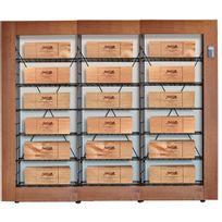 L'ATELIER Du Vin - Bibliothèque Intelligente pour 18 caisses de vin - Bois et Noir Aci-adv912x3