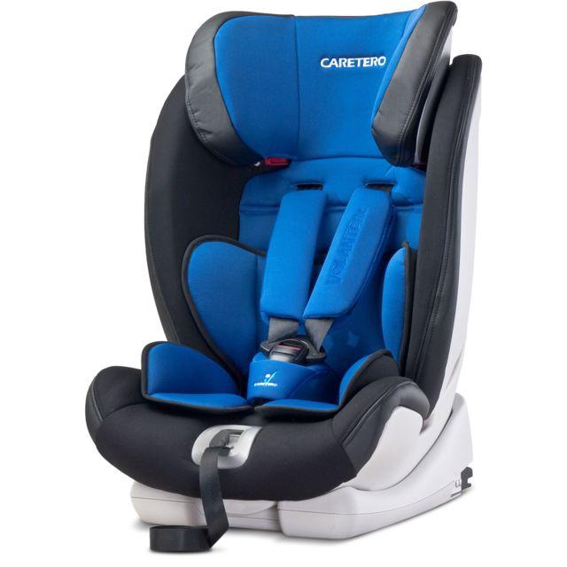 Caretero - Siège auto groupe 1/2/3 bébé enfant 9-36 kg Volante Isofix | Bleu marine