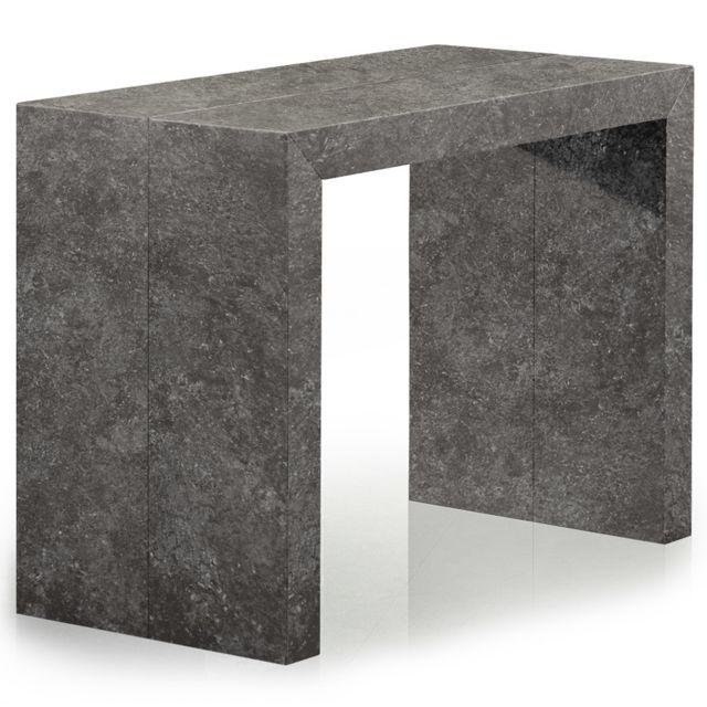 MENZZOPREMIUM Table Console Nassau effet Béton Gris
