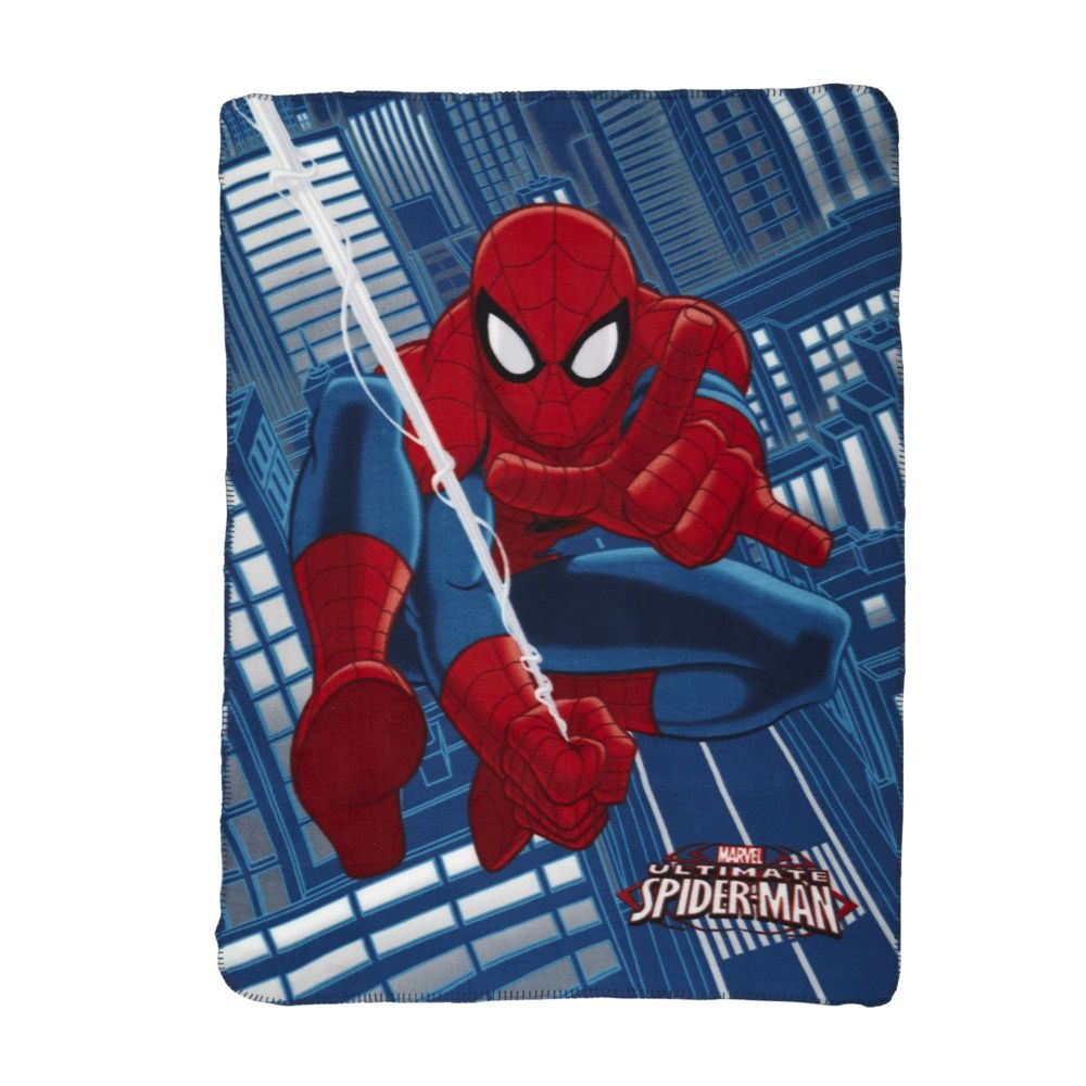 Alinéa - Cartoon Plaid polaire 110x140cm motif Spiderman