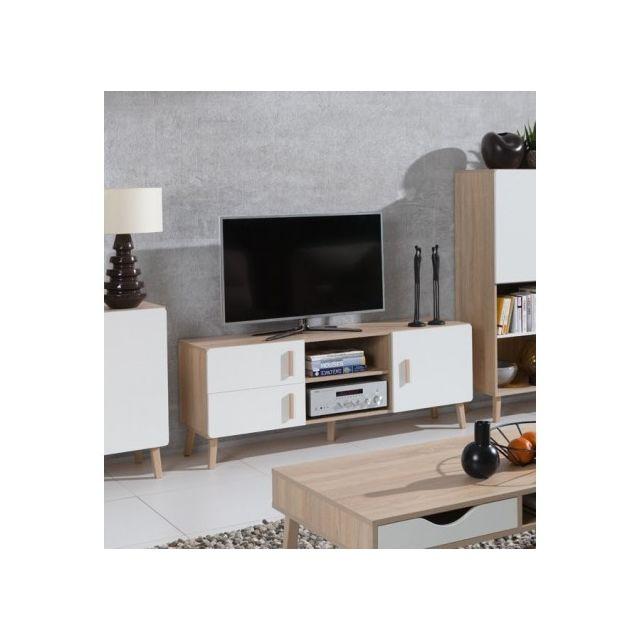 price factory meuble tv oslo meuble design type scandinave effet ultra tendance pour votre. Black Bedroom Furniture Sets. Home Design Ideas