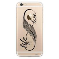 Evetane - Coque transparente Love Life pour Apple iPhone 6/6S