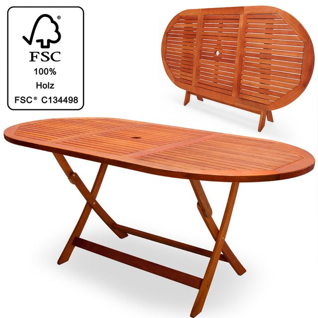 Rocambolesk Superbe Table de jardin pliable