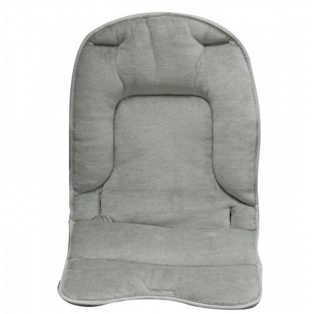 MONSIEUR BEBE - Coussin de confort pour chaise haute bébé enfant gamme Ptit - Gris souris