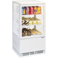 CASSELIN - mini vitrine réfrigérée à poser 58l blanc - cvr58lb