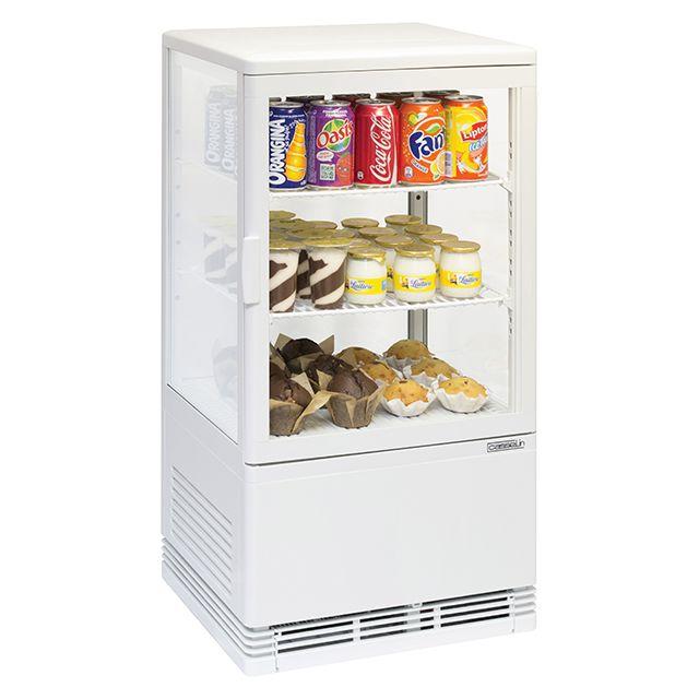 CASSELIN mini vitrine réfrigérée à poser 58l blanc - cvr58lb