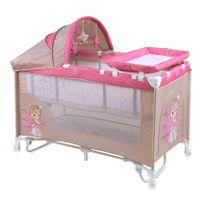 Lit parapluie bébé + mode lit à bascule Nanny 2+ Rose
