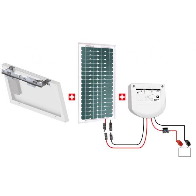 uniteck kit solaire 20w 24v pour alimenter une. Black Bedroom Furniture Sets. Home Design Ideas