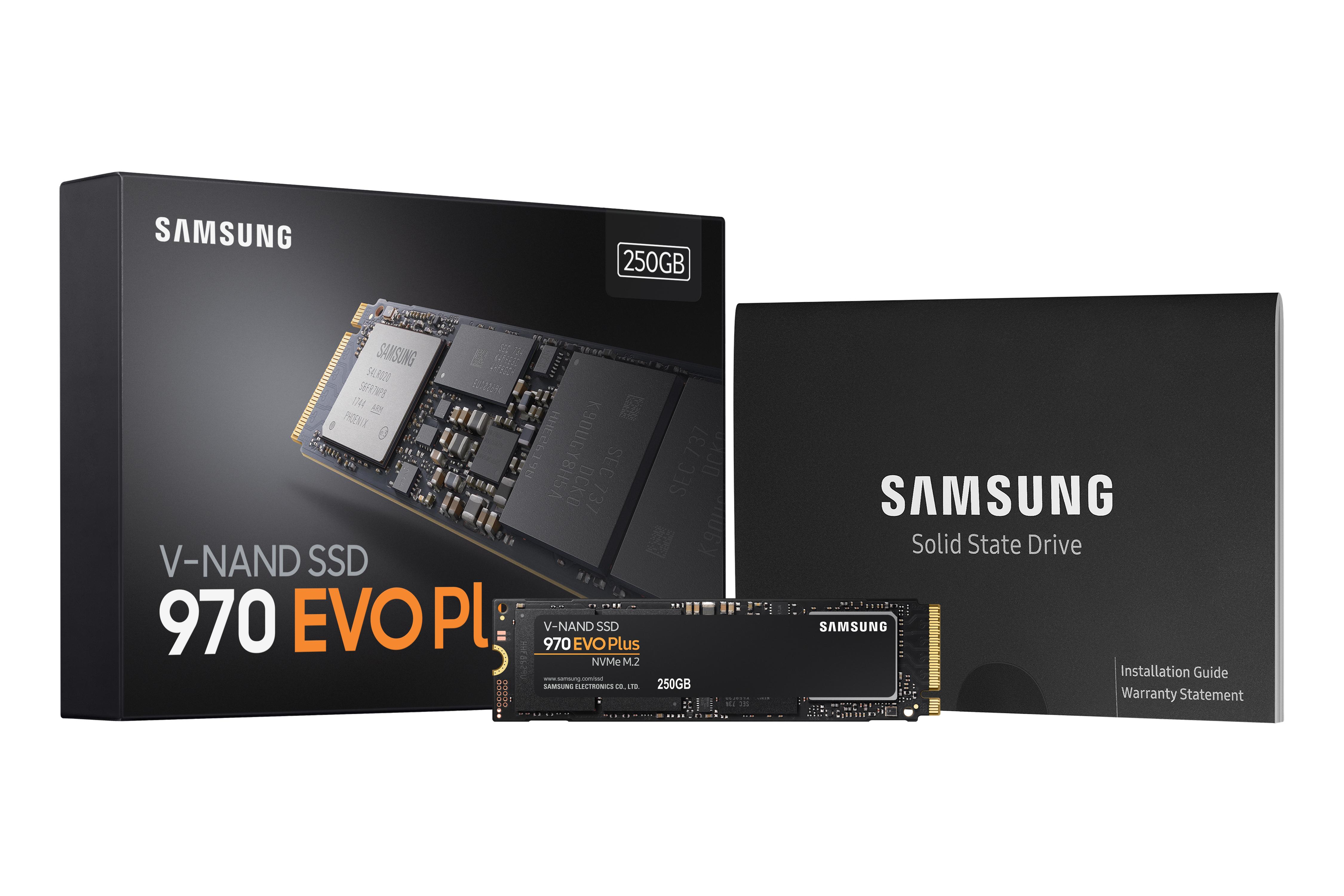 SSD 970 EVO Plus 250 Go M.2 PCle NVMe 1.3 Samsung