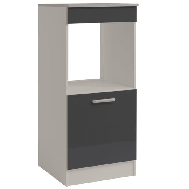 Last Meubles - Demi armoire four Ultra gris brillant