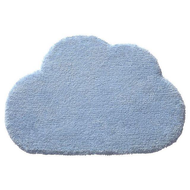Tapis Nuage Bb Bleu par pour chambre bebe garçon - Couleur - Bleu, Taille -  60 x 100 cm