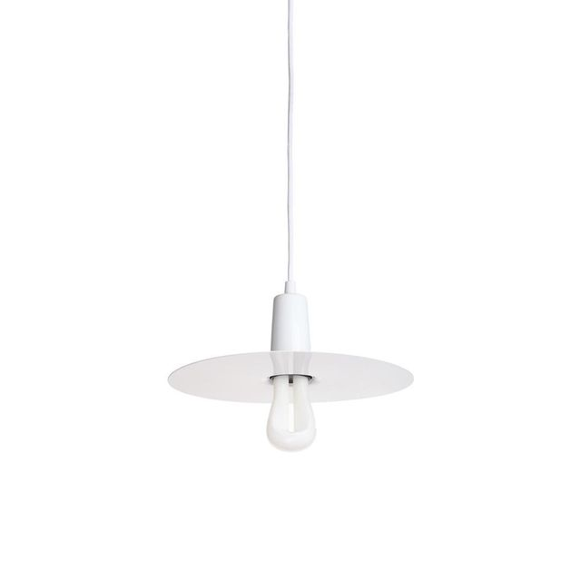 Plumen Suspension Blanc et Ampoule Led 002 Ø30,7cm