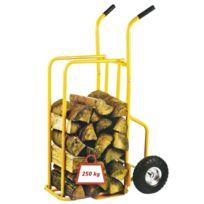 Toolland - Chariot à bûche 250kg avec roues gonflées