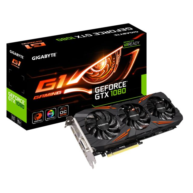 GIGABYTE - GeForce GTX 1080 G1 GAMING 8Go DD5X