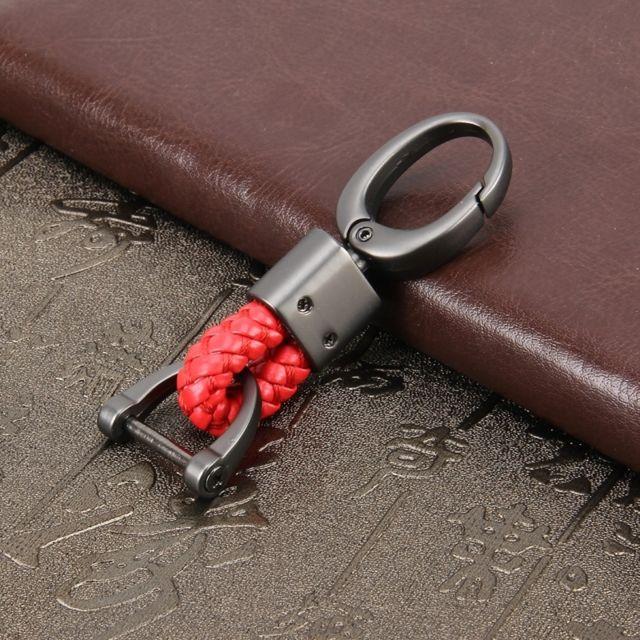 a53ccf2349b Wewoo - Porte-clés voiture rouge Tissage Bande Métal Tressé Ceinture Porte  Accessoires De