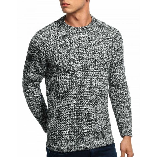 d121a295e7fe Superdry - Pull Nordic Depth Crew - pas cher Achat   Vente Pull homme -  RueDuCommerce