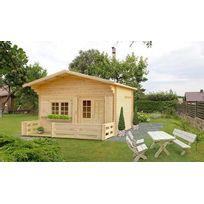 Galanis - Chalet De Jardin En Bois Avec Terrasse Et Mezzanine 17M2 - Laurier