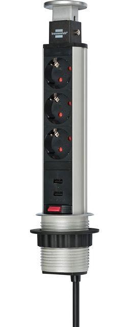 stunning multiprise encastrable tower power avec ports usb prises prises de chargement with. Black Bedroom Furniture Sets. Home Design Ideas