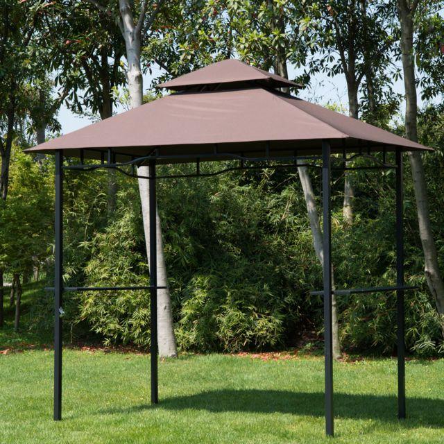HOMCOM - Pavillon abri pour barbecue bbq jardin gazebo tonnelle ...