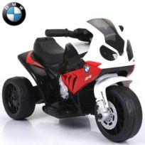 BMW - Tricycle moto quad électrique pour bébé enfant 6 volts S1000RR pack luxe rouge