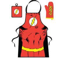 Flash - Dc Comics set barbecue - Tablier - Manique - Gant