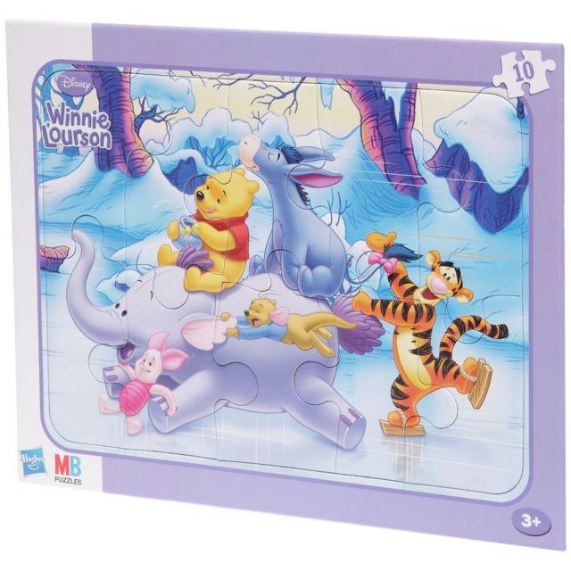 mb jeux 18100 puzzle encastres winnie 10 pi ces fun sur la glace pas cher achat. Black Bedroom Furniture Sets. Home Design Ideas