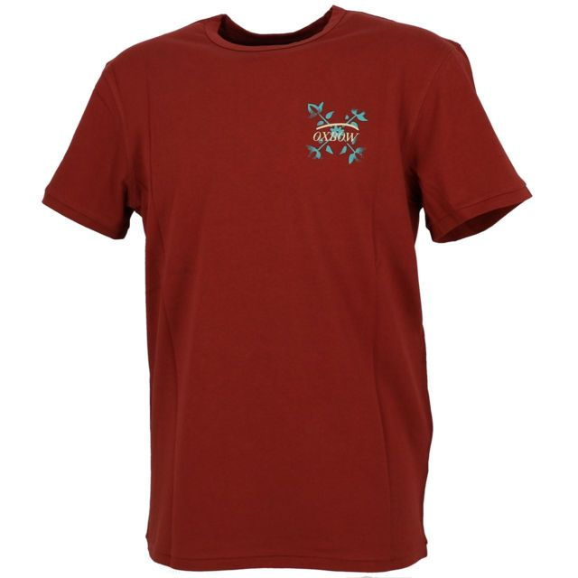OXBOW Tee shirt manches courtes Trope m1 bdx flower Rouge 40679