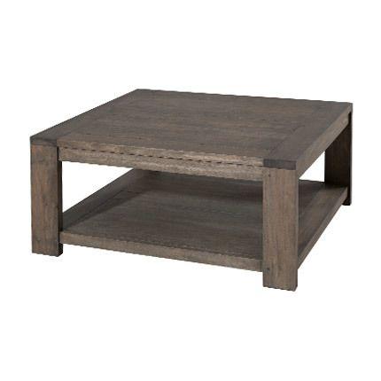 Table basse carrée 80 x 80 cm sous plateau Hambourg - marron