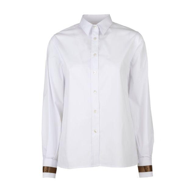 Eleventy Femme A80CAMA01TES0A12401 Blanc Coton Chemise