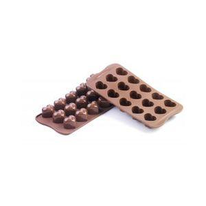 Silikomart - Moule Silicone 15 Chocolats - Mon Amour Rose