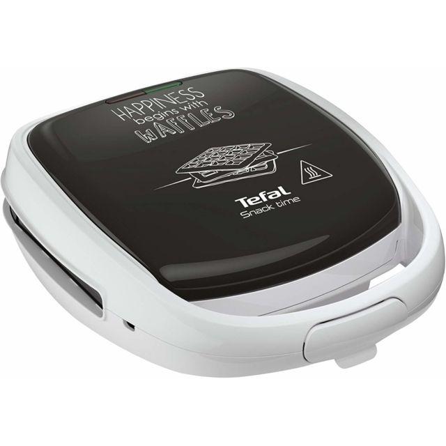 Tefal Gaufrier électrique 2 en 1 de 700W blanc noir