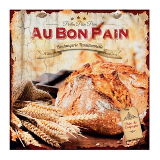 Class d co plaque d corative 20x20 au bon pain campagne en m tal boulangerie d co murale - Plaque en aluminium pour cuisine ...