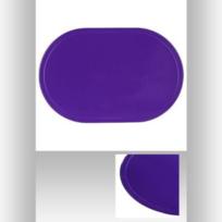 Sans - Lot de 4 Set de Table Ovale en Pvc Violet - Dessous Protège Cuisine - 592
