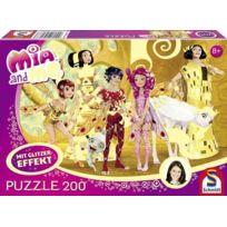 """Schmidt Spiele - 56068 Mia And Me Puzzle À Paillettes 200 PiÈCES Motif """"DANS Le Palais Des Elfes"""