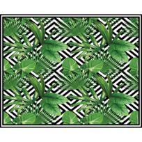 hd86 tapis vinyle rectangulaire micronsie 100 x 80 cm vert - Tapis Vert D Eau
