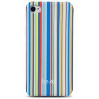 be-ez - Coque La Cover Allure Estival rayures colorés pour iPhone 5s
