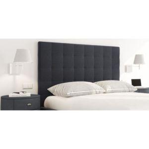 aucune sogno tete de lit tissu capitonn e 140 cm noir pas cher achat vente t tes de lit. Black Bedroom Furniture Sets. Home Design Ideas