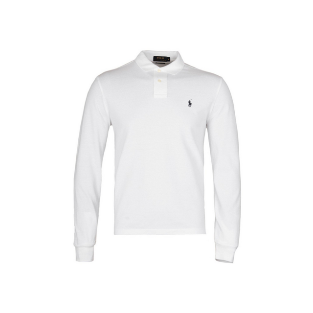 c2c9bf67c665a Ralph Lauren - Polo Blanc Custom-fit Manches Longues Taille S - pas cher  Achat   Vente Polo homme - RueDuCommerce