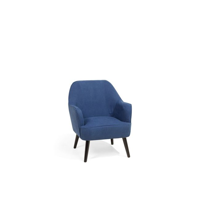 BELIANI Fauteuil en tissu bleu marine LOKEN - bleu foncé